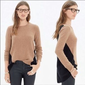 MADEWELL colorblock back zip sweater